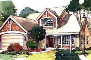 Country Exterior - Front Elevation Plan #320-365