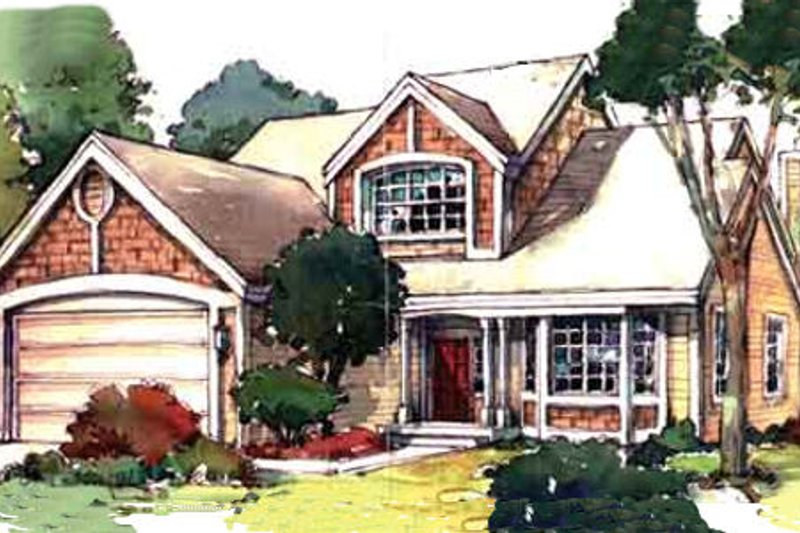 Country Style House Plan - 2 Beds 2.5 Baths 2257 Sq/Ft Plan #320-365 Exterior - Front Elevation