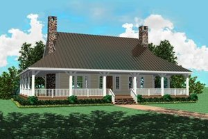 Country Exterior - Front Elevation Plan #81-493