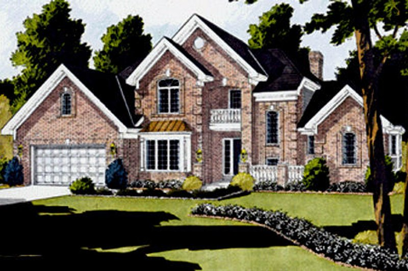 Architectural House Design - European Exterior - Front Elevation Plan #46-170