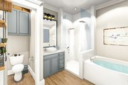 Ranch Style House Plan - 3 Beds 2 Baths 1927 Sq/Ft Plan #406-9655 Interior - Master Bathroom