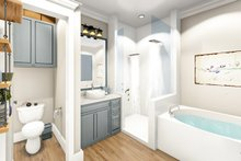 Ranch Interior - Master Bathroom Plan #406-9655