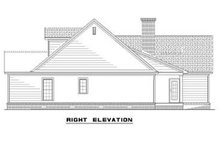 House Plan Design - Right view of 1800 square foot Traditional home