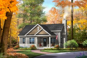 Cottage Exterior - Front Elevation Plan #22-565