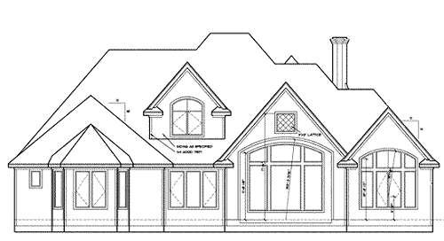 European Exterior - Rear Elevation Plan #20-967 - Houseplans.com