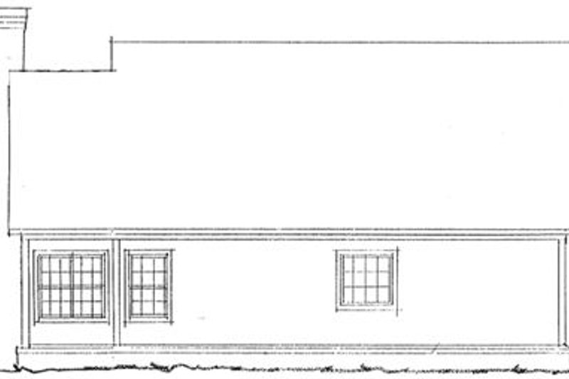 Farmhouse Exterior - Rear Elevation Plan #20-335 - Houseplans.com