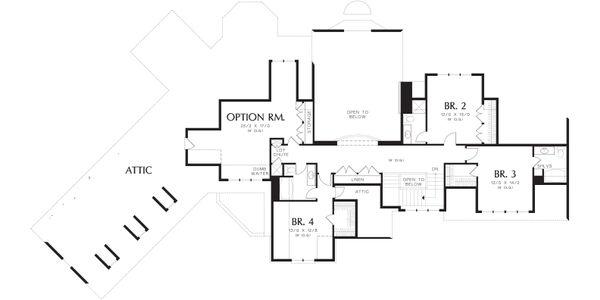 Craftsman Floor Plan - Upper Floor Plan Plan #48-622