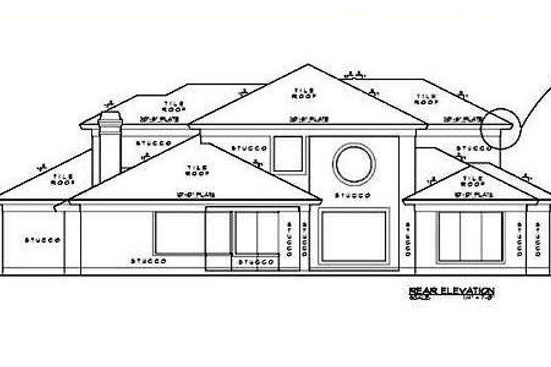 European Exterior - Rear Elevation Plan #61-253 - Houseplans.com