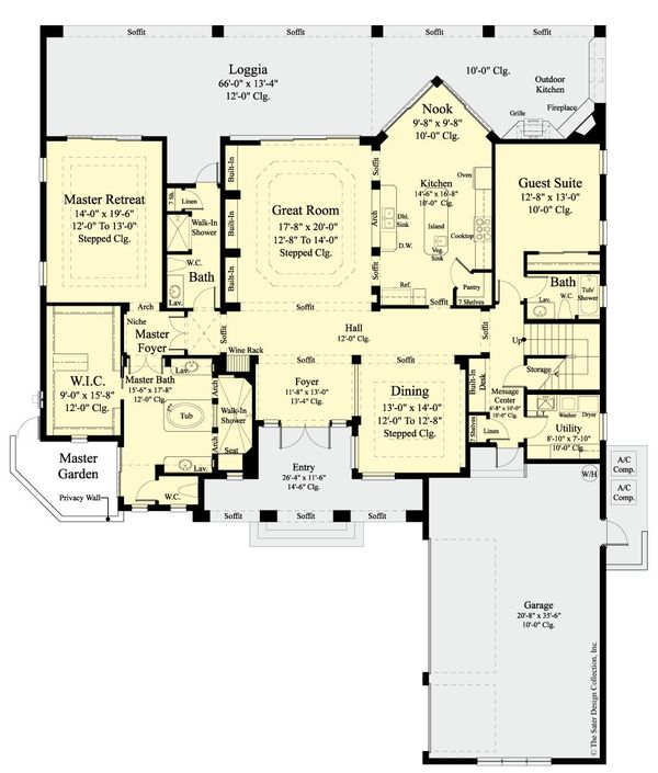Dream House Plan - Country Floor Plan - Main Floor Plan #930-474