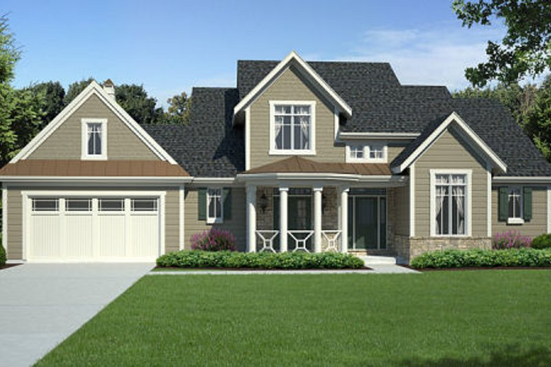 Country Exterior - Front Elevation Plan #46-460 - Houseplans.com
