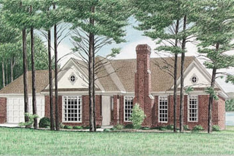 Traditional Style House Plan - 3 Beds 2 Baths 1593 Sq/Ft Plan #34-104