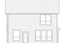Home Plan - Traditional Exterior - Rear Elevation Plan #84-554