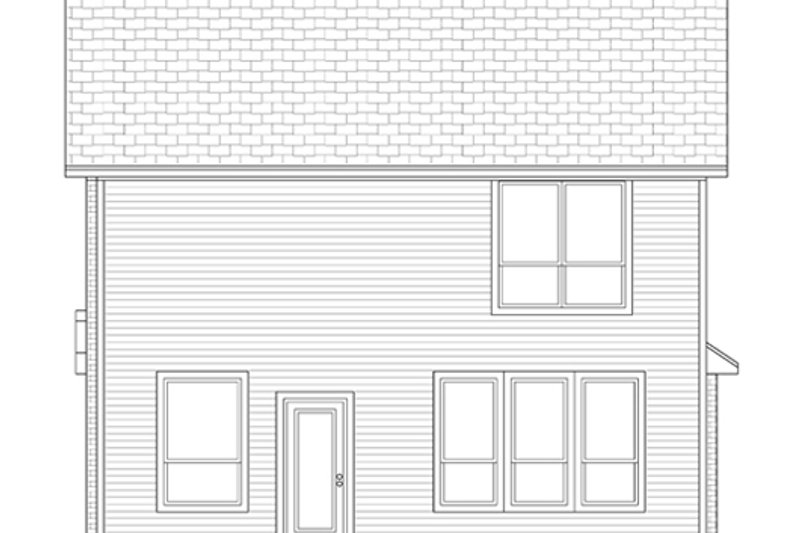 Traditional Exterior - Rear Elevation Plan #84-554 - Houseplans.com