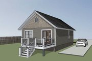 Cottage Style House Plan - 2 Beds 1 Baths 704 Sq/Ft Plan #79-102 Exterior - Other Elevation