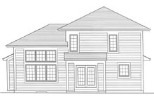 House Plan Design - Cottage Exterior - Rear Elevation Plan #46-885