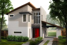 House Plan Design - Contemporary Exterior - Front Elevation Plan #80-218