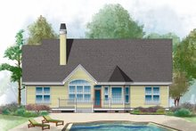 Architectural House Design - Country Exterior - Front Elevation Plan #929-421