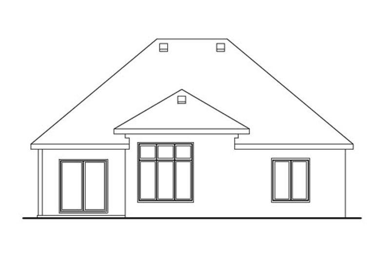 European Exterior - Rear Elevation Plan #20-1614 - Houseplans.com