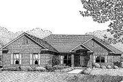 Traditional Style House Plan - 5 Beds 3.5 Baths 3366 Sq/Ft Plan #11-122 Exterior - Front Elevation