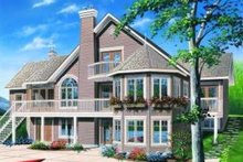 Dream House Plan - Traditional Exterior - Rear Elevation Plan #23-387