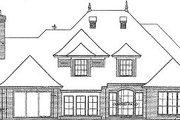 European Style House Plan - 4 Beds 3.5 Baths 3878 Sq/Ft Plan #310-342 Exterior - Rear Elevation