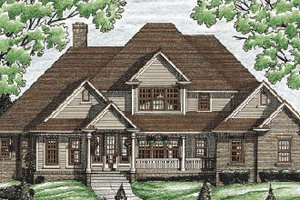 Traditional Exterior - Front Elevation Plan #20-211