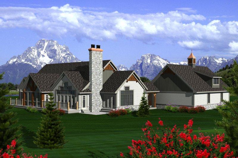 Ranch Exterior - Rear Elevation Plan #70-1137 - Houseplans.com