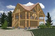 Modern Style House Plan - 2 Beds 1 Baths 1435 Sq/Ft Plan #117-240 Exterior - Front Elevation