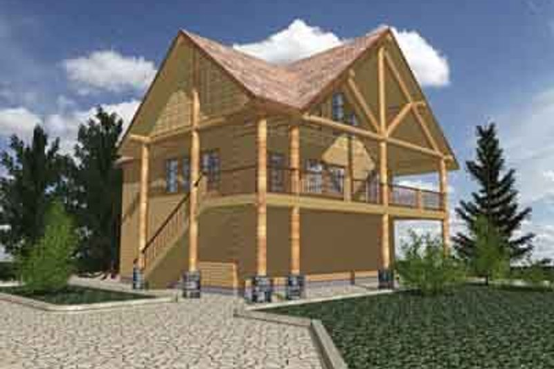 Modern Exterior - Front Elevation Plan #117-240 - Houseplans.com