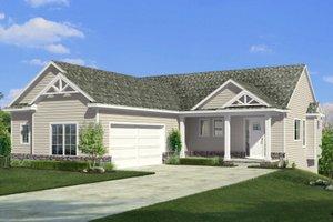 Craftsman Exterior - Front Elevation Plan #1057-20