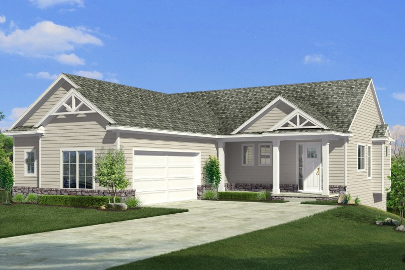 Craftsman Style House Plan - 3 Beds 3 Baths 2776 Sq/Ft Plan #1057-20