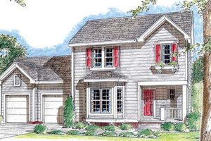 Colonial Exterior - Front Elevation Plan #312-651