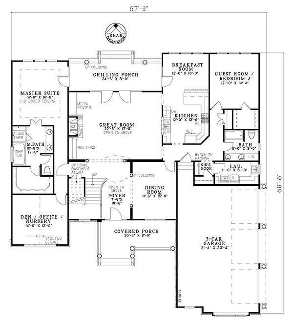 European Floor Plan - Main Floor Plan #17-2144