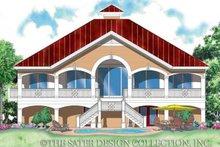 Home Plan - Mediterranean Exterior - Rear Elevation Plan #930-162