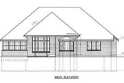 Traditional Style House Plan - 3 Beds 2 Baths 2200 Sq/Ft Plan #102-101 Exterior - Rear Elevation