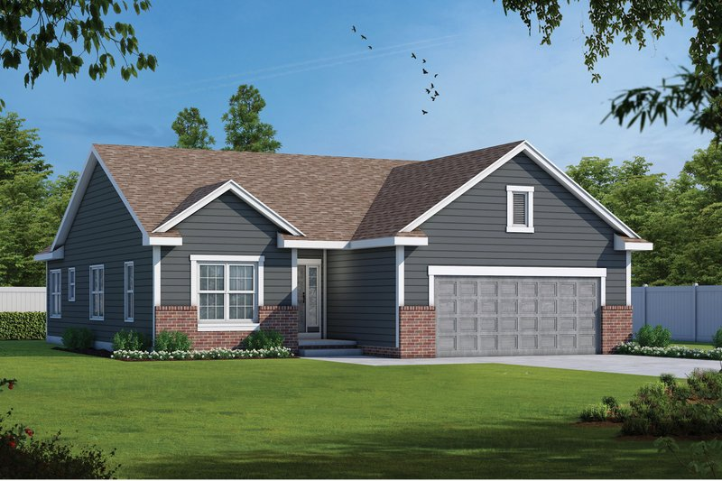 Home Plan - Traditional Exterior - Front Elevation Plan #20-1791
