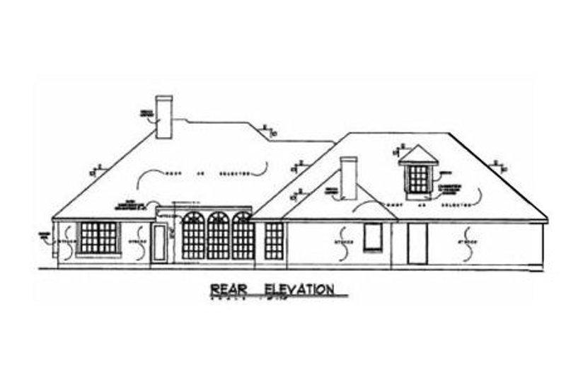 European Exterior - Rear Elevation Plan #40-147 - Houseplans.com
