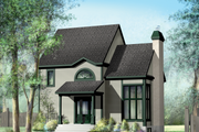 Country Style House Plan - 3 Beds 2 Baths 1368 Sq/Ft Plan #25-4741 Exterior - Front Elevation