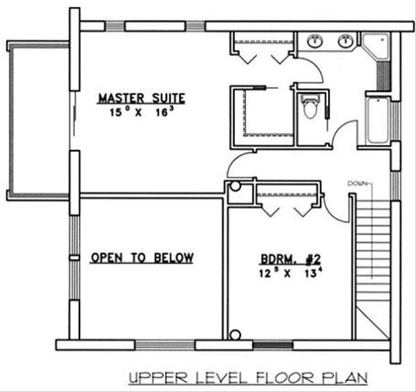 Home Plan - Log Floor Plan - Upper Floor Plan #117-552