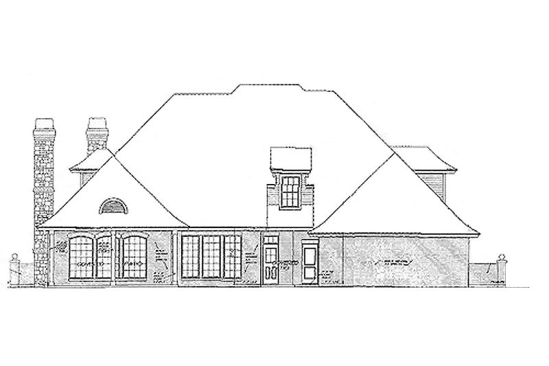 European Exterior - Rear Elevation Plan #310-556 - Houseplans.com
