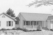 Ranch Style House Plan - 4 Beds 3 Baths 1376 Sq/Ft Plan #112-110