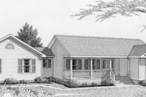 Ranch Exterior - Front Elevation Plan #112-110