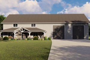 Architectural House Design - Farmhouse Exterior - Front Elevation Plan #1064-109