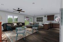 Ranch Interior - Family Room Plan #1060-41