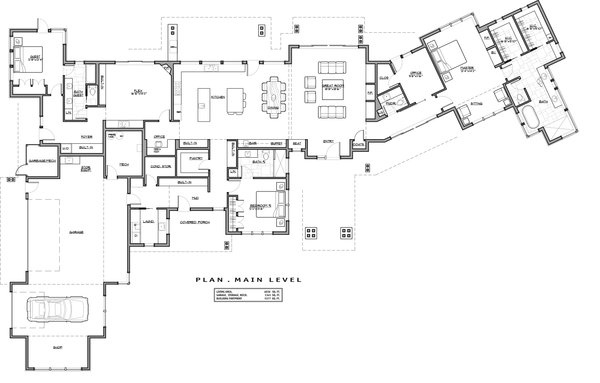 Contemporary Floor Plan - Main Floor Plan Plan #892-20