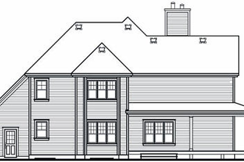 Traditional Exterior - Rear Elevation Plan #23-871 - Houseplans.com