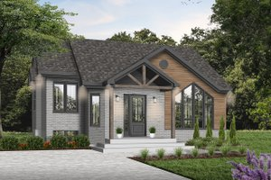 Architectural House Design - Mediterranean Exterior - Front Elevation Plan #23-701