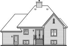 Dream House Plan - European Exterior - Rear Elevation Plan #23-805
