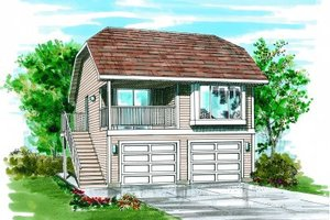Bungalow Exterior - Front Elevation Plan #47-510