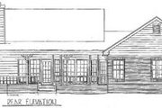 Traditional Style House Plan - 3 Beds 2.5 Baths 1648 Sq/Ft Plan #14-123 Exterior - Rear Elevation